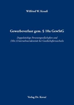 Abbildung von Krauß | Gewerbeverlust gem. § 10a GewStG | 1. Auflage | 2019 | 155 | beck-shop.de