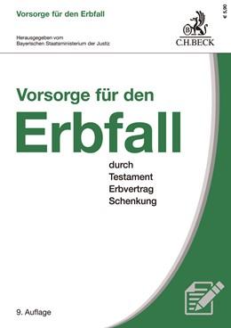 Abbildung von Vorsorge für den Erbfall | 9. Auflage | 2019 | durch Testament, Erbvertrag un...