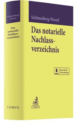 Abbildung von Schönenberg-Wessel | Das notarielle Nachlassverzeichnis | 2020
