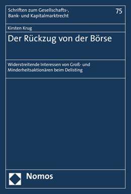 Abbildung von Krug   Der Rückzug von der Börse   1. Auflage   2019   beck-shop.de