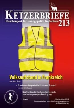 Abbildung von Hoevels / Kartin / Steinbach | Volksaufstand in Frankreich | 2019 | Ketzerbriefe 213 - Flaschenpos...