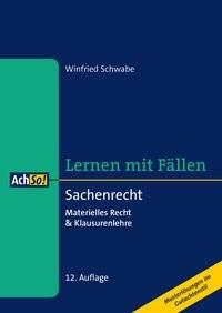 Sachenrecht | Schwabe | 12., überarbeitete Auflage, 2019 | Buch (Cover)