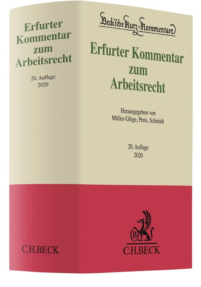 Erfurter Kommentar zum Arbeitsrecht | 20. Auflage, 2019 | Buch (Cover)