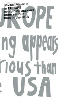 Abbildung von Meschede | Michel Majerus. In EUROPE everything appears to be more serious than in the USA | 2019 | Ausst. Kat. Kunsthalle Bielefe...