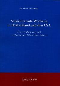 Schockierende Werbung in Deutschland und den USA | Ohrtmann, 2004 | Buch (Cover)