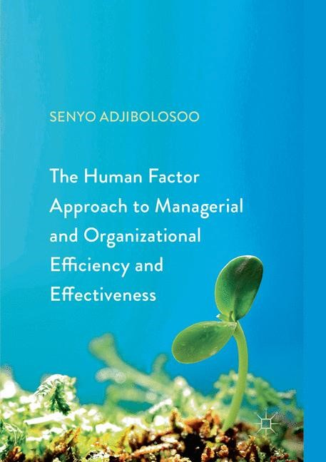 Abbildung von Adjibolosoo | The Human Factor Approach to Managerial and Organizational Efficiency and Effectiveness | Softcover reprint of the original 1st ed. 2018 | 2018
