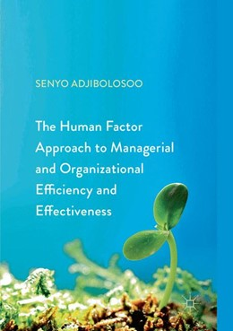 Abbildung von Adjibolosoo   The Human Factor Approach to Managerial and Organizational Efficiency and Effectiveness   Softcover reprint of the original 1st ed. 2018   2018