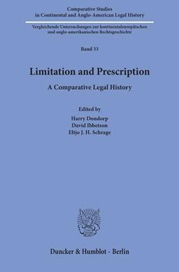 Abbildung von Dondorp / Ibbetson / Schrage | Limitation and Prescription | 2019 | A Comparative Legal History | 33