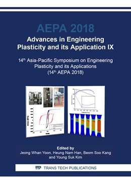 Abbildung von Yoon / Han / Kang / Kim | Advances in Engineering Plasticity and its Application IX | 2019 | 14th Asia-Pacific Symposium on... | Volume 794