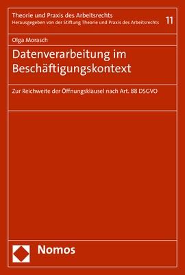 Datenverarbeitung im Beschäftigungskontext | Morasch, 2019 | Buch (Cover)