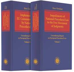 Abbildung von Hess / Law / Ortolani | Luxembourg Report on European Procedural Law | 2019 | Impediments of National Proced...