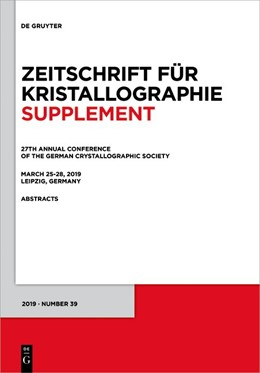 Abbildung von 27th Annual Conference of the German Crystallographic Society, March 25–28, 2019, Leipzig, Germany | 1. Auflage | 2019 | 39 | beck-shop.de