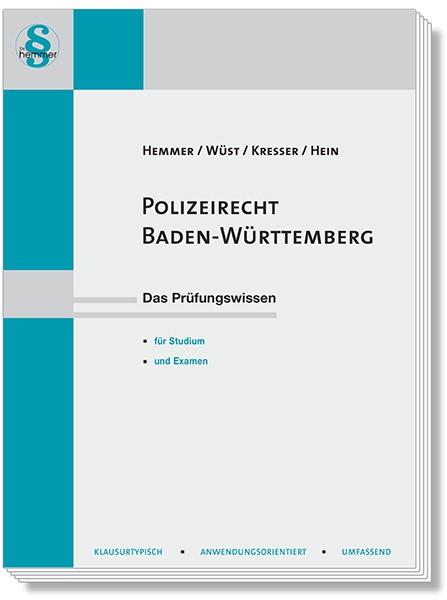 Polizeirecht Baden-Württemberg   Hemmer / Wüst   5. Auflage, 2019   Buch (Cover)