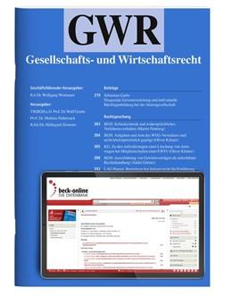 Abbildung von GWR • Gesellschafts- und Wirtschaftsrecht | 10. Auflage | 2021 | beck-shop.de