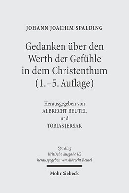 Abbildung von Beutel / Spalding / Jersak | Kritische Ausgabe | 2005 | 1. Abteilung: Schriften. Band ...