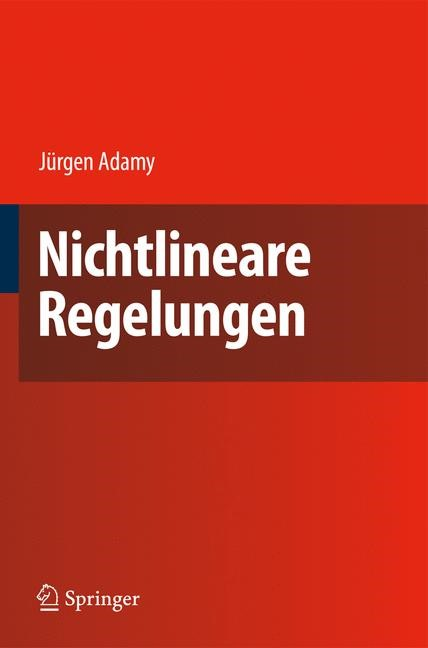 Nichtlineare Regelungen | Adamy, 2009 | Buch (Cover)