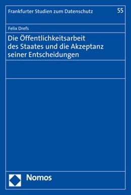 Abbildung von Drefs | Die Öffentlichkeitsarbeit des Staates und die Akzeptanz seiner Entscheidungen | 2019 | 55