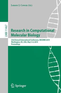Abbildung von Cowen | Research in Computational Molecular Biology | 1. Auflage | 2019 | beck-shop.de