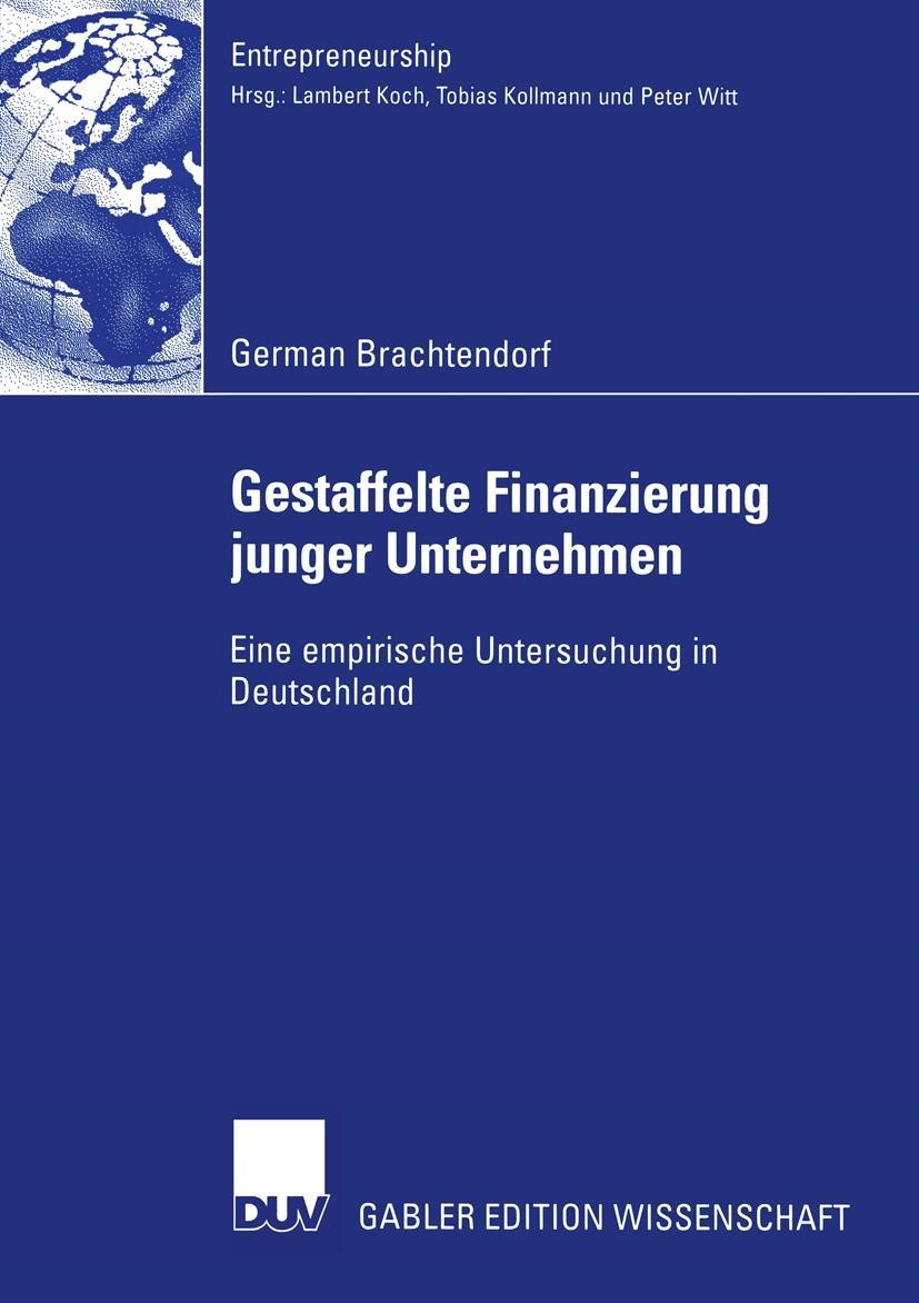 Gestaffelte Finanzierung junger Unternehmen | Brachtendorf, 2004 | Buch (Cover)