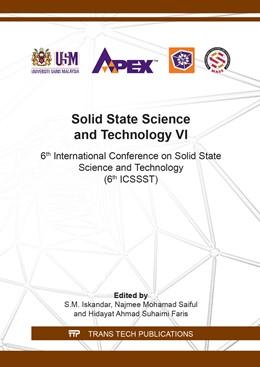Abbildung von Iskandar / Saiful | Solid State Science and Technology VI | 1. Auflage | 2019 | Volume 290 | beck-shop.de