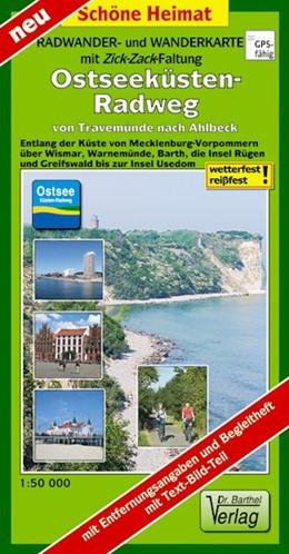 Abbildung von Ostseeküsten-Radweg von Travemünde nach Ahlbeck 1:50 000 Radwander- und Wanderkarte mit Zick-Zack-Faltung | Neuauflage LZ bis 2025 | 2019 | Entlang der Küste von Mecklenb...