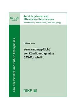 Abbildung von Ruch | Verwarnungspflicht vor Kündigung gemäss GAV-Vorschrift | 1. Auflage | 2019 | 28 | beck-shop.de