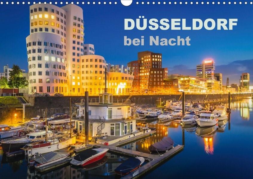 Abbildung von Abel | Düsseldorf bei Nacht (Wandkalender 2020 DIN A3 quer) | 5. Edition 2020 | 2019