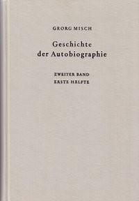 Abbildung von Geschichte der Autobiographie, Bd. 2 Halbbd 1 | 3. Auflage | 1988