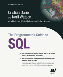 Abbildung von Darie / Watson | The Programmer's Guide to SQL | Softcover reprint of the original 1st ed. | 2003