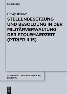 Abbildung von Werner   Stellenbesetzung und Besoldung in der Militärverwaltung der Ptolemäerzeit (P.Trier II 15)   2019   38
