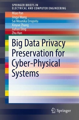 Abbildung von Pan / Wang / Errapotu | Big Data Privacy Preservation for Cyber-Physical Systems | 2019