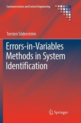 Abbildung von Söderström | Errors-in-Variables Methods in System Identification | Softcover reprint of the original 1st ed. 2018 | 2018