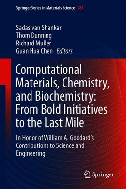 Abbildung von Shankar / Dunning | Computational Materials, Chemistry, and Biochemistry: From Bold Initiatives to the Last Mile | 1. Auflage | 2021 | 284 | beck-shop.de