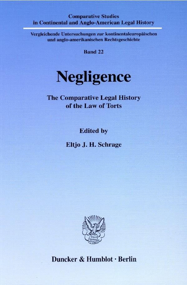 Abbildung von Schrage | Negligence. | 2001