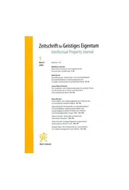 Abbildung von Zeitschrift für Geistiges Eigentum • ZGE | 12. Band | 2020 | Intellectual Property Journal ...