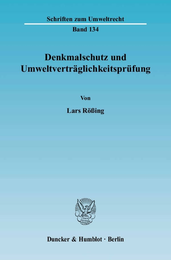 Abbildung von Rößing | Denkmalschutz und Umweltverträglichkeitsprüfung. | 2004
