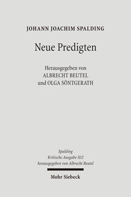 Abbildung von Beutel / Spalding / Söntgerath | Kritische Ausgabe / 2. Abteilung: Predigten | 1., Aufl. | 2008