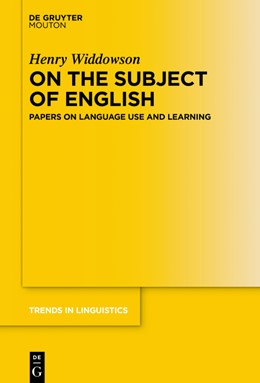 Abbildung von Widdowson | On the Subject of English | 2019 | The Linguistics of Language Us... | 330