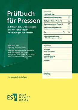 Abbildung von Schulte | Prüfbuch für Pressen | unveränderte Auflage | 2019