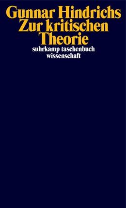 Abbildung von Hindrichs | Zur kritischen Theorie | Originalausgabe | 2020 | 2302