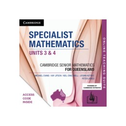 Abbildung von Evans / Cracknell / Astruc   CSM QLD Specialist Mathematics Units 3 and 4 Online Teaching Suite (Code)   2019