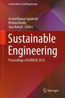 Abbildung von Agnihotri / Reddy | Sustainable Engineering | 1. Auflage | 2019 | beck-shop.de