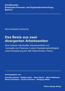 Abbildung von Schleicher | Das Beste aus zwei divergenten Arbeitswelten | 2019 | Eine Analyse individueller Kar...