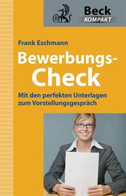 Abbildung von Eschmann   Bewerbungs-Check   1. Auflage   2009   beck-shop.de