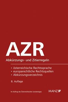 Abbildung von Dax / Hopf   Abkürzungs- und Zitierregeln AZR   8. Auflage   2019   beck-shop.de