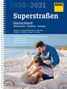 Abbildung von ADAC SuperStraßen Deutschland, Österreich, Schweiz & Europa 2020/2021 1:200 000 | 13. Auflage | 2019 | beck-shop.de