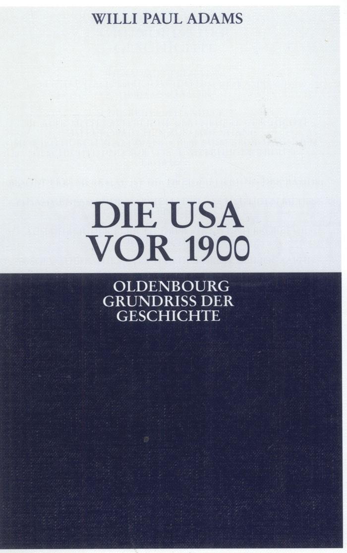 Die USA vor 1900   Adams, 2008   Buch (Cover)