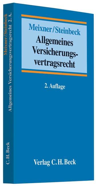 Allgemeines Versicherungsvertragsrecht | Meixner / Steinbeck | 2. Auflage | Buch (Cover)
