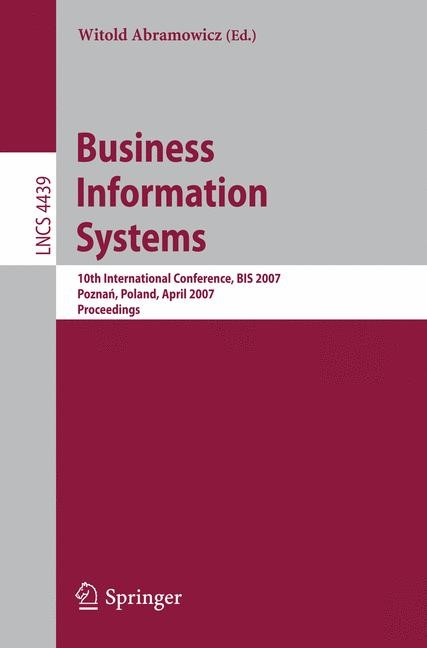 Business Information Systems | Abramowicz, 2007 | Buch (Cover)