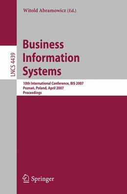 Abbildung von Abramowicz | Business Information Systems | 2007 | 10th International Conference,...